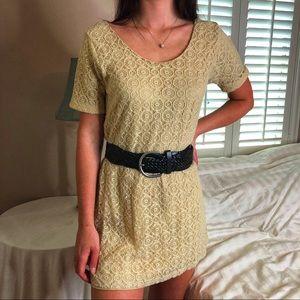 Posh Garden Dresses - 3 LEFT XS-M Boho Chic Embroidered Ecru Mini Dress